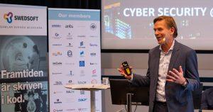 Christian Levin talar på konferensen Cyber security in a complex world